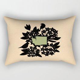 Washington - State Papercut Print Rectangular Pillow