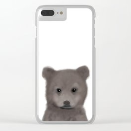 Woodland Baby Bear Clear iPhone Case