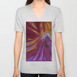 Red, Orange, & Purple Flower Unisex V-Neck