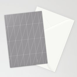 Grey Triangles by Friztin Stationery Cards
