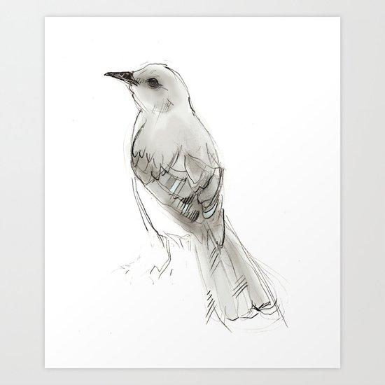 Hey Mockingbird Art Print