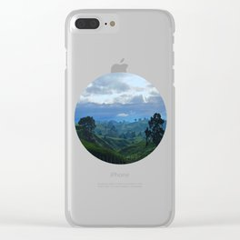 Rolling Hills Circle Photo Frame Clear iPhone Case