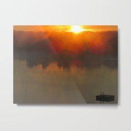 Sunrise on Meno Lake Metal Print