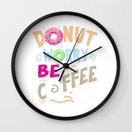 Coffee Donut caffeine motivation funny gifts Wall Clock