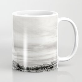 Eiffel Tower and boats on Seine river in Paris, France Coffee Mug