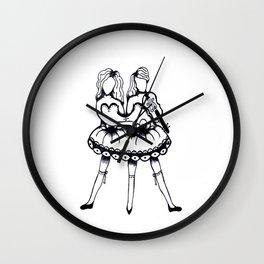 Twin Violin Wall Clock