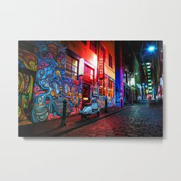 Evening in Hosier Lane Metal Print