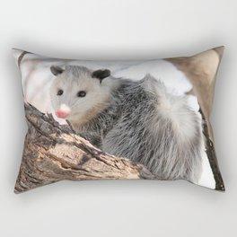 North American Opossum in Winter Rectangular Pillow
