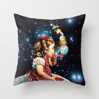eugenia loli Throw Pillows featuring Maker by Eugenia Loli