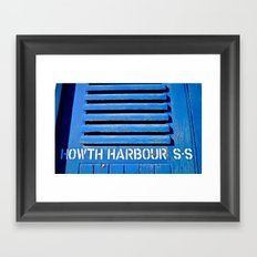 Howth Harbour Shutter Framed Art Print