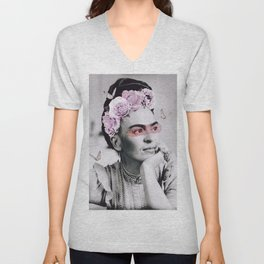 Frida dreaming Unisex V-Neck