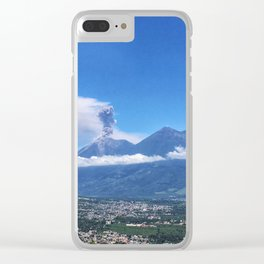 Guatemalan Erupting Volcano Clear iPhone Case