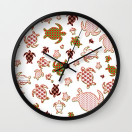 Christmas turtles shapes Wall Clock