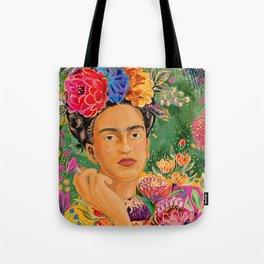 Frida Khalo Portrait Tote Bag