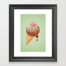Chocolate Icecream Framed Art Print