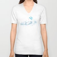 milky way V-neck T-shirts featuring The Milky Way by Picomodi