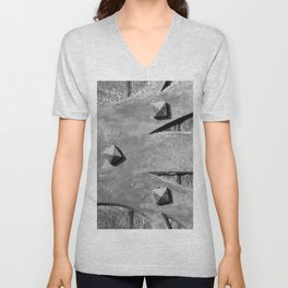Hinges On The Cathedral Door Unisex V-Neck