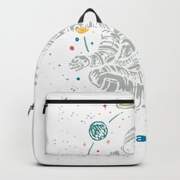 Let is This Shit Go Spaceman Pilates Yoga Lover Backpack