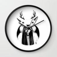 wildlife Wall Clocks featuring Wildlife by Lilyloca