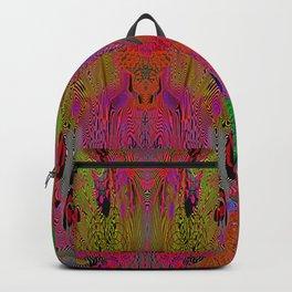 Sugar Skull and Girly Corks (Ultraviolet, Psychedelic) Backpack