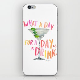 What a Day for a Day Drink – Melon Typography iPhone Skin