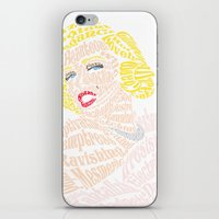 verse iPhone & iPod Skins featuring Marilyn Verse by Kaitlyn Brown