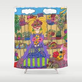 Maisie's Secret Garden Shower Curtain
