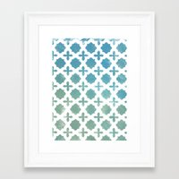 monogram Framed Art Prints featuring Monogram by Chilligraphy