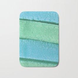 Blue Mint Colored Bubble Gum Texture Bath Mat