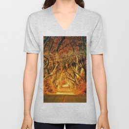 Haunted Road Unisex V-Neck