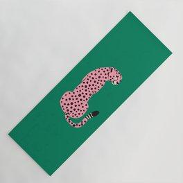The Stare: Pink Cheetah Edition Yoga Mat