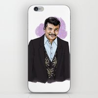 neil gaiman iPhone & iPod Skins featuring Neil by Myrtle Quillamor