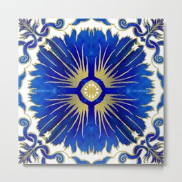 Azulejos - Portuguese Tiles Metal Print