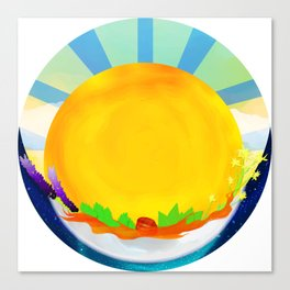 Wheel Series : Summer Solstice Medallion Canvas Print