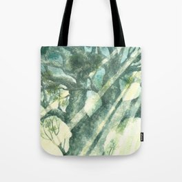 Acuarella wood Tote Bag