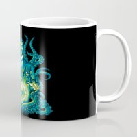 lovecraft Mugs featuring Everybody loves Lovecraft by David Maclennan