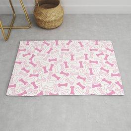 Kawaii Pink Bones Pattern Rug