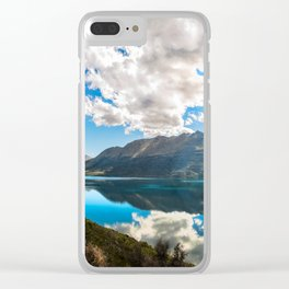 Lake Wakatipu Panorama at Golden Hour Clear iPhone Case