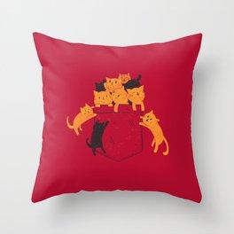 Pocket Cats Throw Pillow