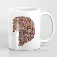 les mis Mugs featuring Her Hair - Les Fleur Edition by Bianca Green