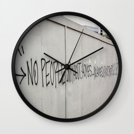 No people without homes, no homes without people.... Wall Clock