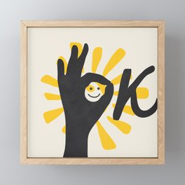 OK Framed Mini Art Print