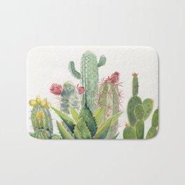 Cactus Watercolor Bath Mat