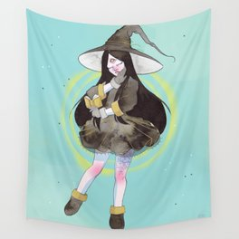The witch with a spell book Wall Tapestry