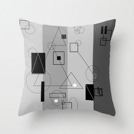 Gray Geometry 3 Throw Pillow