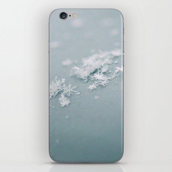Snow flakes iPhone & iPod Skin