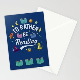 I'd Rather Be Reading Science And Magic Edition Stationery Cards