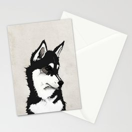 Nico the Husky Stationery Cards