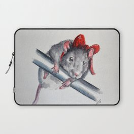 Rat in a bow Laptop Sleeve