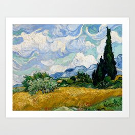"Vincent van Gogh ""Wheat Field with Cypresses"" Art Print"